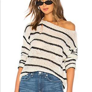 Superdown knit distressed striped sweater revolve